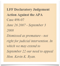 LFF Declaratory Judgement Action Against the APA